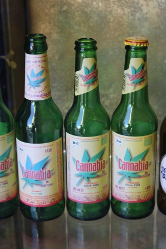 Beer with a trace of cannabis...we didn't try it...