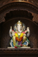 Ganesha figure at a Hindu temple