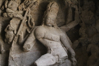 Carvings thousands of years old in Elephanta Caves