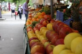 Farmers' market near our hotel