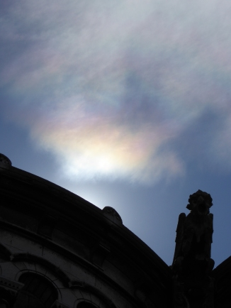 Sun dog over Sacre Coeur