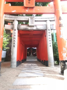 Torii gates at Kushida Shrine