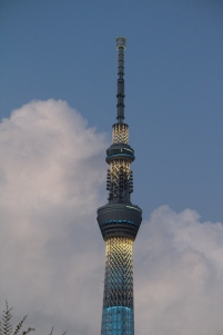 Not just the fireworks are impressive. Skytree was just down the street from my vantage point.